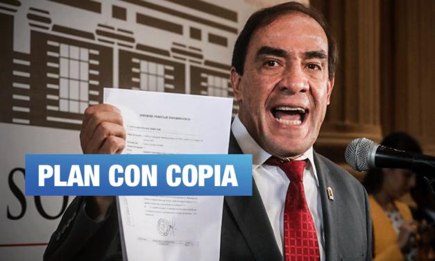 Lescano: plan de gobierno contiene páginas totalmente copiadas
