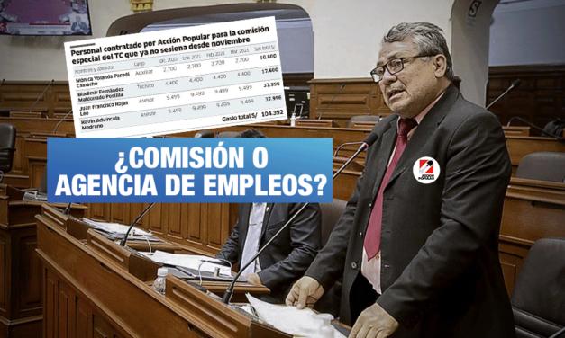 Congreso: Acción Popular gasta más de S/ 100 mil en comisión que no está activa