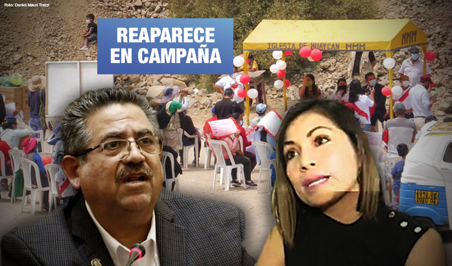 Merino entregó donaciones a electorado de candidata de Acción Popular