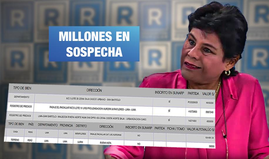 Candidata de López Aliaga aumentó patrimonio en más de S/ 8 millones tras ocupar cargo público