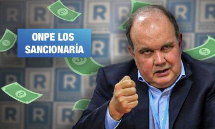 López Aliaga aportó más de lo debido a su propio partido