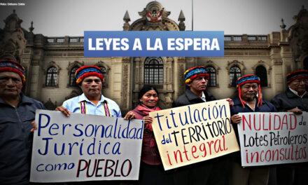 Más de 100 organizaciones indígenas y campesinas piden un Pleno del Congreso dedicado al medioambiente