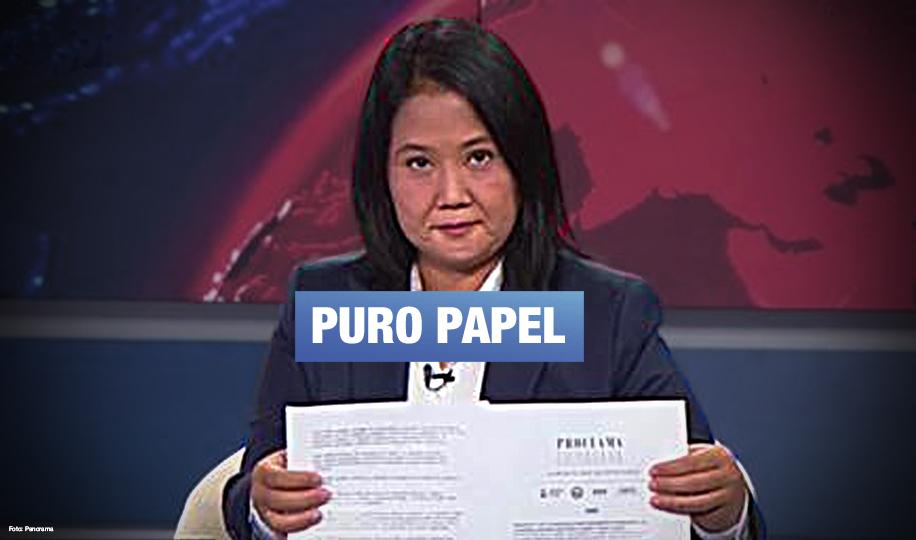 Cinco años después de romper promesas democráticas, Keiko Fujimori firma otro compromiso