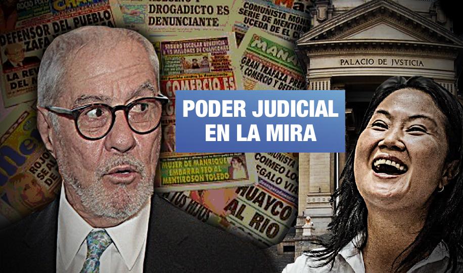 Exjuez que absolvió a Fujimori por compra de diarios haría reforma judicial a favor de Keiko