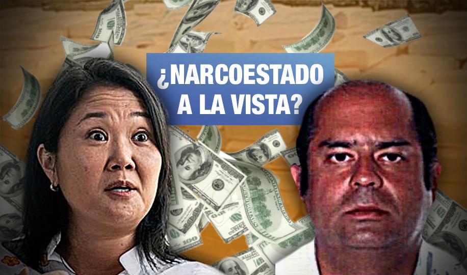 Fiscal pide prisión para Keiko porque también recibió aporte de narcotraficante