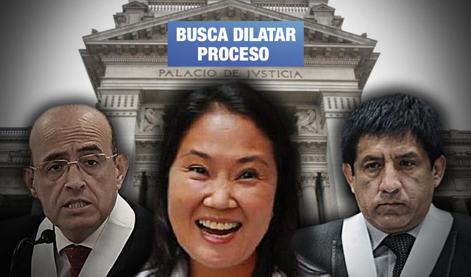 Keiko Fujimori presentó 14 solicitudes para retirar a jueces de su investigación por lavado de activos