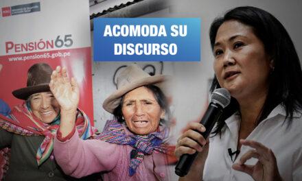 Propuesta de Keiko para aumentar Pensión 65 no figura en su plan de gobierno