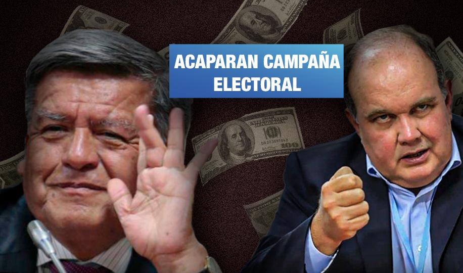 Acuña y López Aliaga deberán reportar cuánto invierten en campañas a favor de Keiko