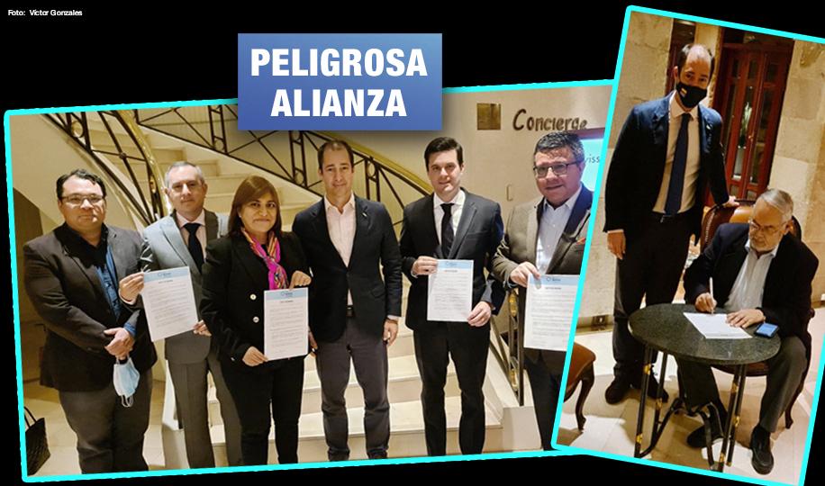 Personajes clave de Fuerza Popular, Avanza País, Renovación Popular y APP pactan con Vox de España