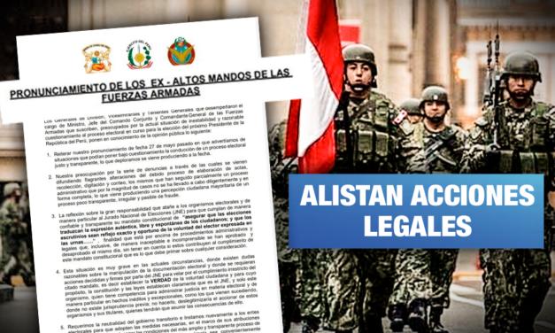 MINDEF denunciará a exmilitares que usaron el nombre de las FFAA para presionar al JNE