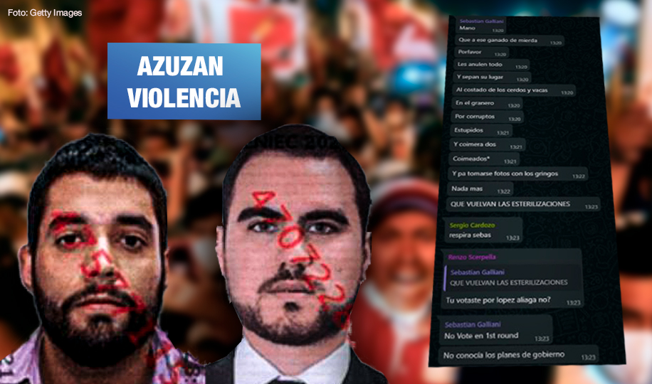 Denuncian a dos hombres por racismo contra personas que votaron por Pedro Castillo