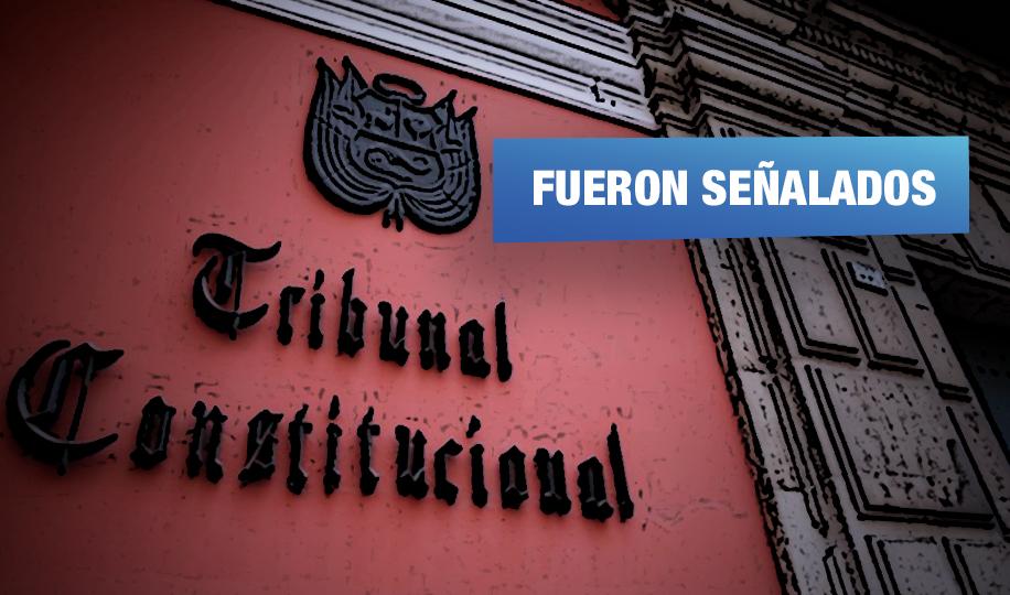 Abogados cuestionados postulan para integrar próximo Tribunal Constitucional
