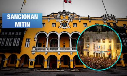 Municipalidad de Lima multó con S/ 17.600 a CGTP por cierre de campaña de Castillo