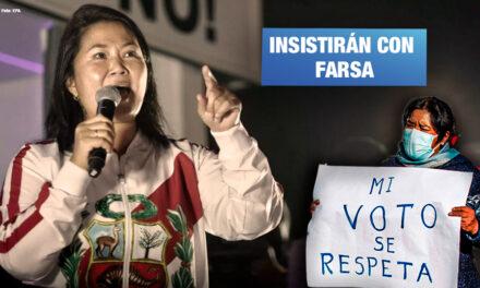 Fuerza Popular apunta a que próximo Congreso investigue supuesto fraude electoral