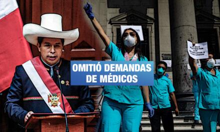 Las medidas ausentes sobre salud en el discurso presidencial de Castillo
