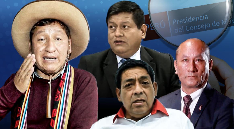 [GRÁFICA] Cuatro ministros de Guido Bellido bajo la lupa