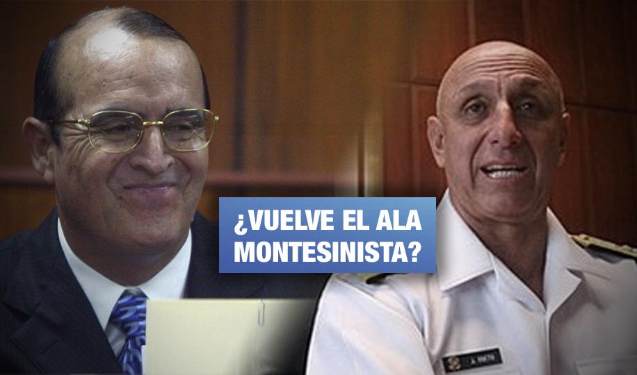 Exmarino denunciado por proteger a operador de Montesinos encabezaría Comisión de Inteligencia