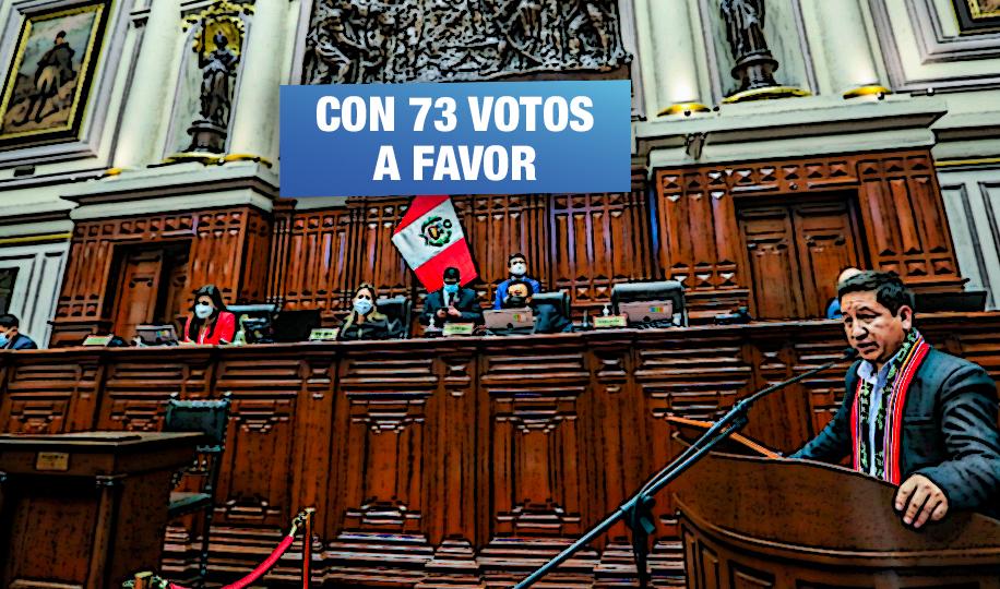 Gabinete Bellido recibe confianza del Congreso pese al bloque de Fuerza Popular, Avanza País y Renovación Popular