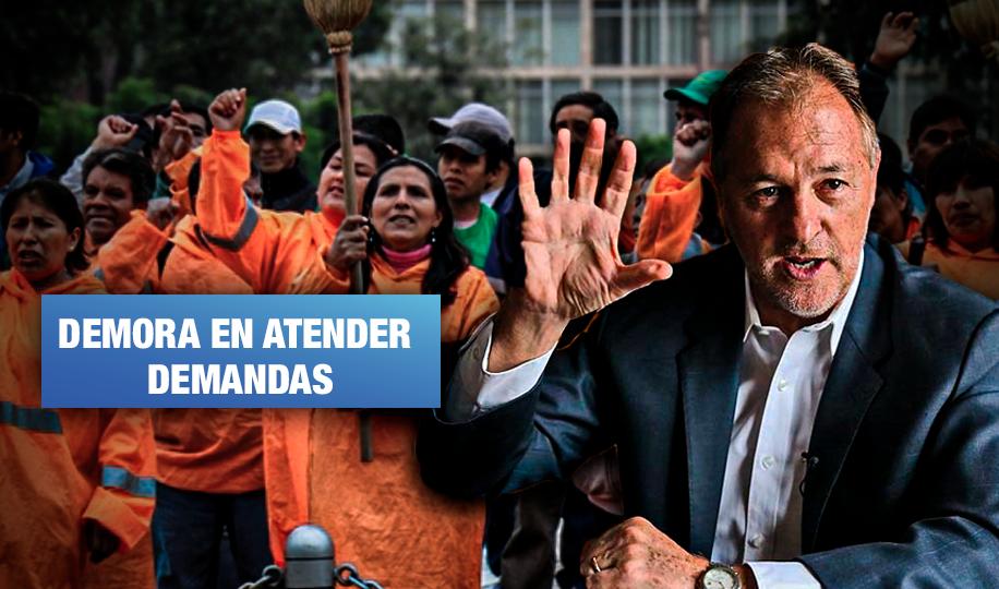 Alcalde Muñoz no responde sobre reclamos por falta de seguridad para trabajadores de limpieza