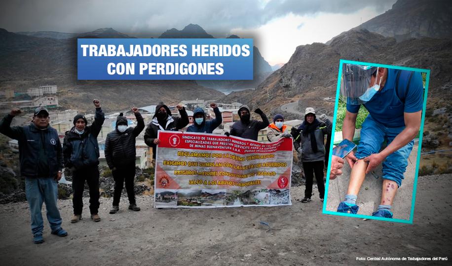 Represión policial contra trabajadores de minera Argentum deja 21 heridos