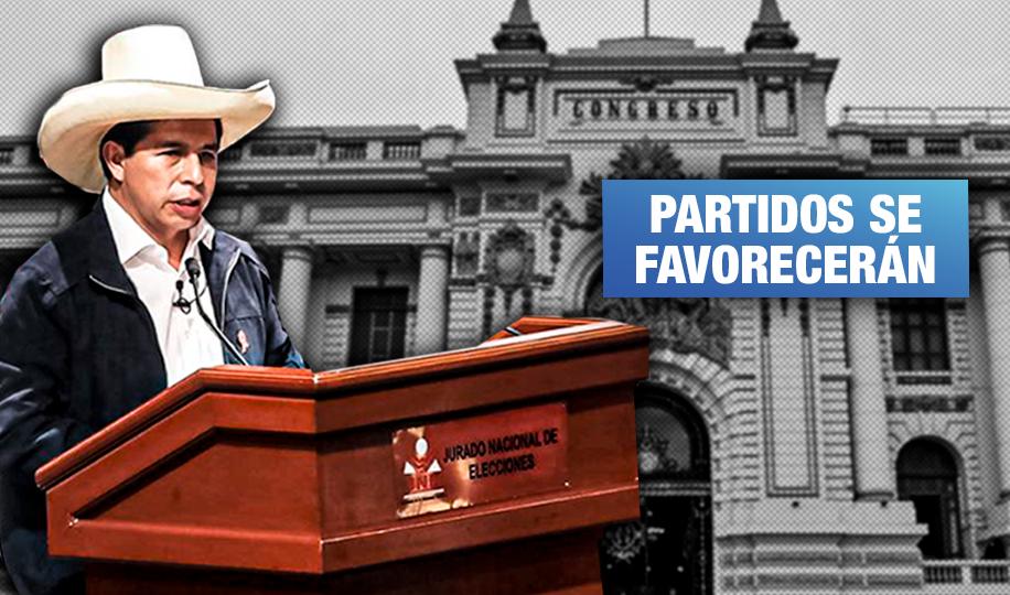 Presidente Castillo autoriza plazo que permite al Congreso insistir con eliminación de elecciones primarias