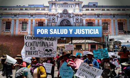 Personas afectadas por contaminación minera llegan a Lima para reclamar por su salud y el medioambiente